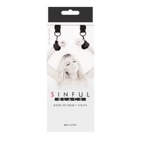 Sinful - Door Restraint Straps - Black ремешки для подвешивания
