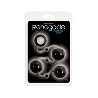 Renegade - Pleasure Balls - Black Шарики на сцепке 3 шт.