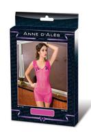 Платье розовое в мелкую сетку р-р M/L DRESS MARISE ROSE M/L