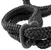 Фиксация унисекс черная Silk Rope Love Cuffs
