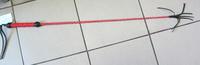 Стек плетеный (длиный), наконечник Кисточка красный лак