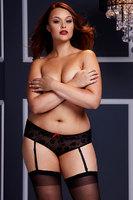 Трусики женские с доступом  / черные / Queen size