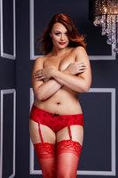 Трусики женские с доступом  / красные / Queen size