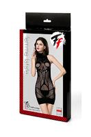 Закрытое эротическое платье-сетка