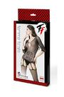 Закрытый кетсьюит-сетка с имитацией подвязок и доступом Femme Fatale