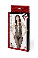 Кетсьюит-сетка с имитацией шнуровки, открытой спинкой и доступом Femme Fatale