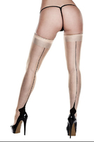 Чулки NUDE OPAQUE CUBAN HEEL THIGH HIGHS