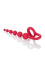 Анальная цепочка COLT Buddy Balls с эрекционным кольцом красная
