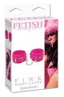 Наручники замшевые PINK - WRIST CUFFS розовые