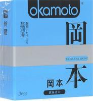 Презервативы Okamoto Skinless Skin Super Lubricative / С обильной смазкой № 3