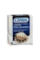 Презервативы Contex №3 3 Extra Sensation  с крупными точками и рёбрами