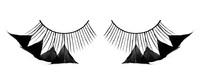 Ресницы черные перья