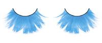 Ресницы светло-голубые  перья