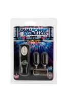 Два вибро-яйца 10X Dual Power Bullets - Short n' Sweet черные