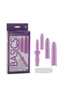 Вибромассажер Dilator Set Purple Dilator with 4 Sizes & Sleeve с насадками фиолетовый