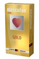 Masculan Ultra 5,  10 шт. *10 Ультра Золотой (Gold)