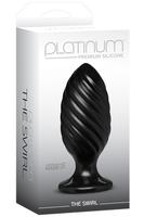 Анальная пробка Platinum Premium Silicone The Swirl черная