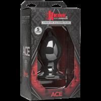 Kink - Ace - Silicone Plug - 5 - Black Анальная пробка