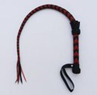 GCS-A-03 ЧЕРНО-КРАСН / Плетка с рукояткой (цвет черно-красный) длина 90см