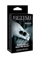 Вагинальные шарики Medium Black Glass Ben-Wa Balls из стекла пепельные