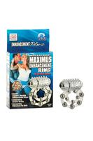 Эрекционное вибро-кольцо Waterproof Maximus Enhancement Ring  с 10-ю металлическими шариками