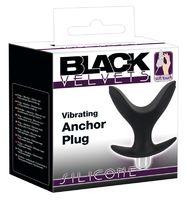 Анальный виброплаграсширитель Black Velvets Vibrating Anchor Plug