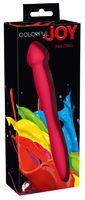 Гибкий двусторонний фаллоимитатор Colorful Joy Red Dildo
