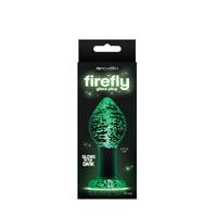 Анальная пробка святящаяся в темноте Firefly Glass - Plug - Large - Clear