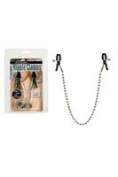 Зажимы на соски Nipple Clamps Silver Beaded с цепью металлические