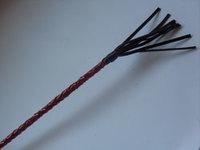 Стек плетеный (короткий), наконечник Кисточка-10см красный лак