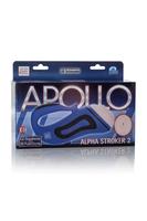 Мастурбатор-вагина Apollo™ Alpha Stroker™ Alpha Stroker™ 2 с вибрацией голубой