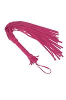 Плеть из натуральной велюровой кожи розовая 65 см