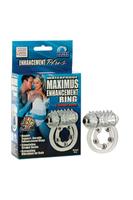 Эрекционное вибро-кольцо Waterproof Maximus Enhancement Ring  с 5-ю металлическими шариками