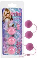 Вагинальные шарики First Time Love Balls Triple Lover - Pink