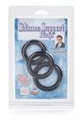 Набор из 3-х эрекционных колец Dr. Joel Kaplan Silicone Support Rings черные