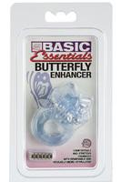 Эрекционное вибро-кольцо BASIC ESSENTIALS BTRFLY ENHANC