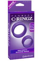 Набор из 2-х эрекцонных колец Max Width Silicone Rings фиолетовые