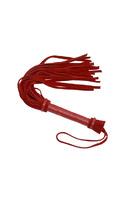 Плеть из натуральной велюровой кожи красная 40 см