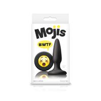 Анальная пробка Эмоджи маленькая черная Moji's - WTF - Mini Silicone Plug
