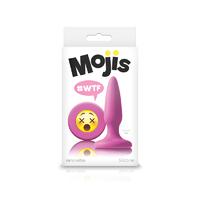 Анальная пробка Эмоджи маленькая розовая Moji's - WTF - Mini Silicone Plug