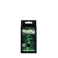 Анальная пробка-стекло, светящаяся в темноте Firefly Glass - Plug - Medium - Clear