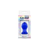 Анальная пробка стеклянная маленькая синяя Crystal - Small - Blue