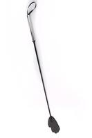 Стек с металлической хромированной  ручкой черный