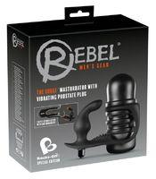 Мастурбатор с виброплагом для массажа простаты 3 в 1 черный Rebel - The Surge