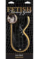 Маска Fetish Fantasy Gold Love Mask черная с золотом