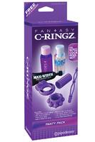 Набор эрекционных колец Party Pack фиолетовый
