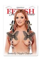 Fetish Fantasy Series  Зажимы на соски   Butterfly Nipple Clamps