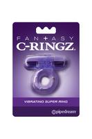 Эрекционное кольцо с вибро-пулей Fantasy C-Ringz Vibrating Super Ring