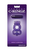 Эрекционное кольцо  вибро-пулей Fantasy C-Ringz Infinity Super Ring