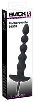 Анальная виброелочка Black Velvets Rechargeable Beads
